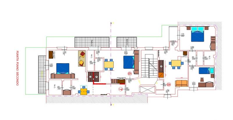 piantina piani appartamenti e hotel